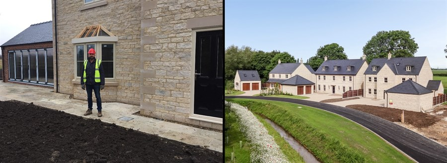 Stonewell Homes - building site and completed homes