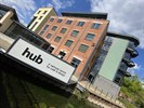 The Hub featuring new signage