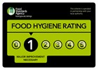 Food hygiene rating one